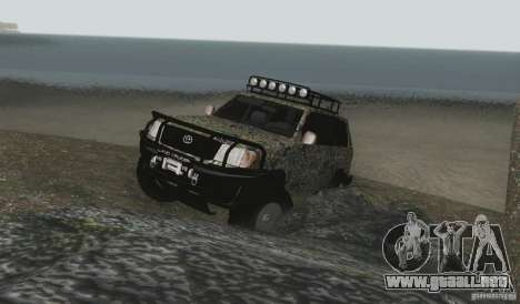 Toyota Land Cruiser 100 Off Road para vista lateral GTA San Andreas