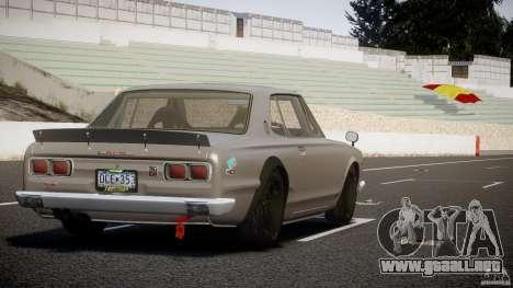 Nissan Skyline Hakosuka (KPGC10) Mountain Drift para GTA 4 vista superior