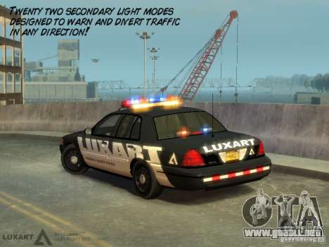 EMERGENCY LIGHTING SYSTEM V6 para GTA 4 quinta pantalla