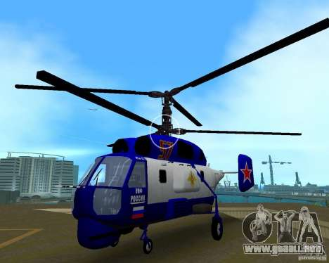 Ka-27 para GTA Vice City vista posterior