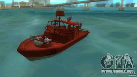 Río bote patrulla Mark 2 (Player_At_Guns) para GTA Vice City