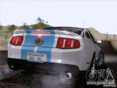 Ford Shelby Mustang GT500 2010 para el motor de GTA San Andreas