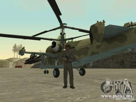 Ka-50 Black Shark para GTA San Andreas vista posterior izquierda
