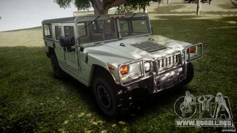 Hummer H1 Original para GTA 4 vista interior