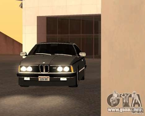 BMW M6 E24 para GTA San Andreas vista hacia atrás