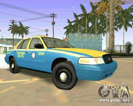 Ford Crown Victoria 2003 Taxi Cab para GTA San Andreas