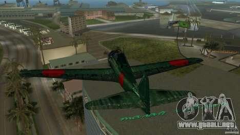 Zero Fighter Plane para GTA Vice City vista lateral