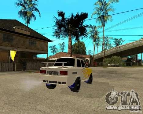 ZAZ 968 m tûningovanyj para GTA San Andreas vista posterior izquierda