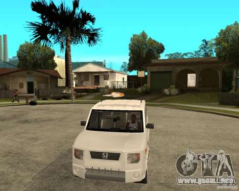 Honda Element para GTA San Andreas vista hacia atrás