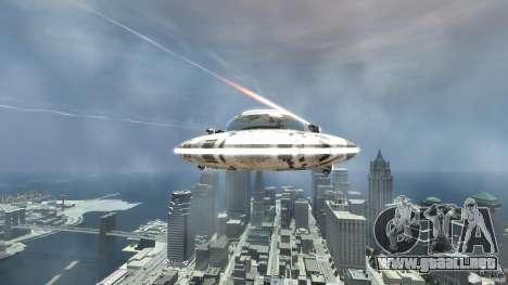 UFO ufo textured para GTA 4 vista hacia atrás