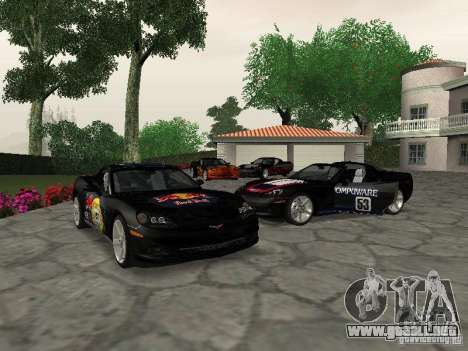 Chevrolet Corvette (C6) para vista lateral GTA San Andreas