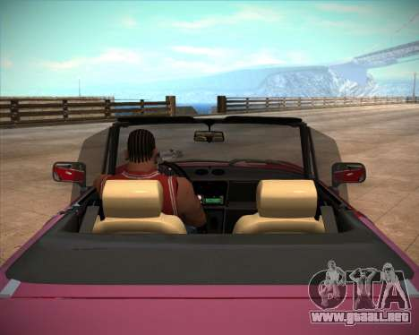 Alfa Romeo Spider 115 1986 para vista lateral GTA San Andreas