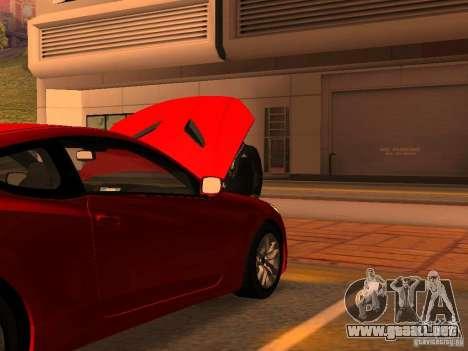 Hyundai Genesis Coupé 3.8 Track v1.0 para GTA San Andreas interior