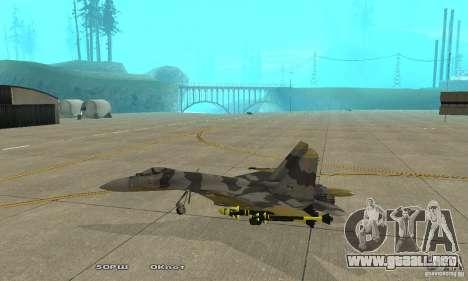 Su-37 Terminator para GTA San Andreas left