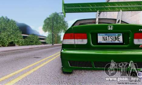 Honda Civic Si Sporty para la visión correcta GTA San Andreas