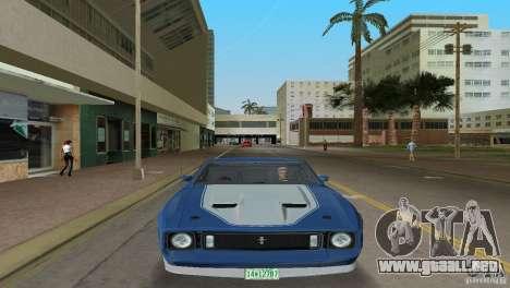 Ford Mustang 1973 para GTA Vice City vista lateral izquierdo