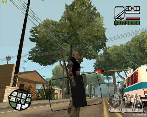 Escudo de armadura de Call of Duty Modern Warfar para GTA San Andreas segunda pantalla