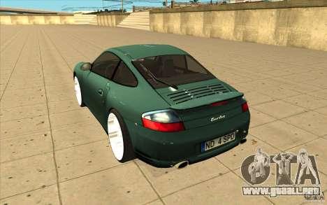 Porsche 911 Turbo para GTA San Andreas vista posterior izquierda