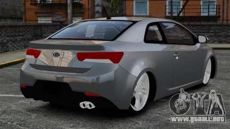 Kia Cerato Koup Edit para GTA 4 Vista posterior izquierda