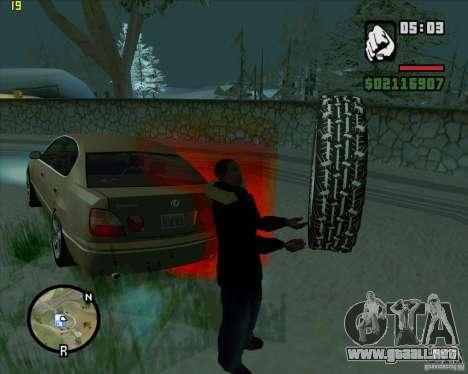Neumáticos de repuesto para GTA San Andreas