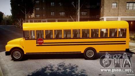 School Bus [Beta] para GTA 4 left