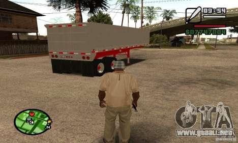 Remolque basculante Artict3 para GTA San Andreas vista hacia atrás