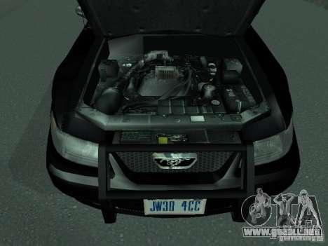 Ford Mustang GT Police para la visión correcta GTA San Andreas