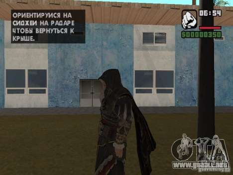 Ezio auditore en armadura de Altair para GTA San Andreas segunda pantalla
