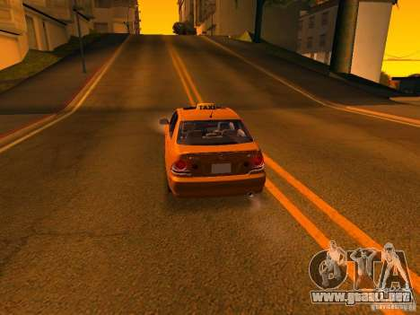 Lexus IS300 Taxi para vista inferior GTA San Andreas