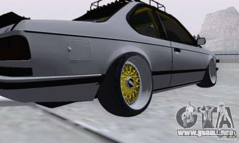 BMW M635CSi Stanced para GTA San Andreas vista posterior izquierda