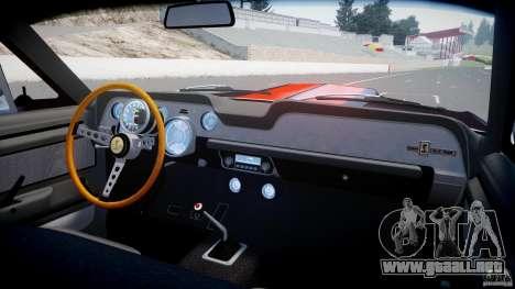 Ford Shelby GT500 1967 para GTA 4 vista desde abajo