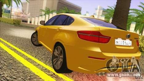 BMW X6M E71 v2 para la visión correcta GTA San Andreas