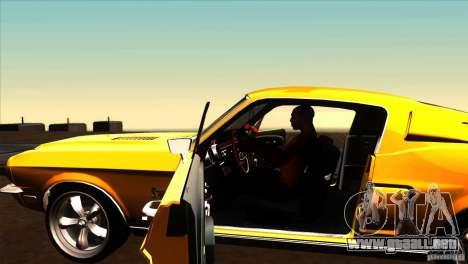 Shelby GT500KR para visión interna GTA San Andreas