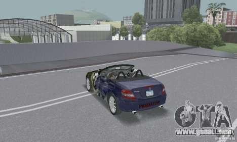 Mercedes-Benz SLK 350 para vista inferior GTA San Andreas