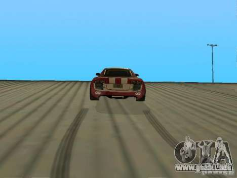 Audi R8 Le Mans NFS Carbon v2.0 para GTA San Andreas vista posterior izquierda