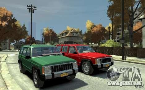 Jeep Cherokee 1984 para GTA 4 vista hacia atrás