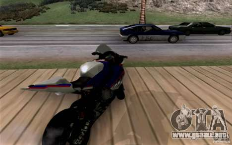 BMW S1000 RR para GTA San Andreas vista hacia atrás