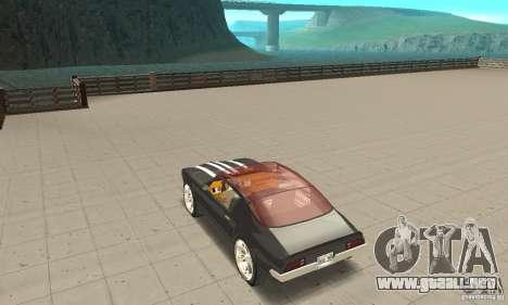 Pontiac Flamingo para GTA San Andreas vista posterior izquierda