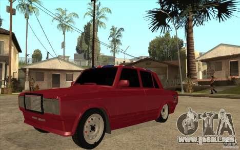 VAZ 2107 Hobo v. 2 para GTA San Andreas