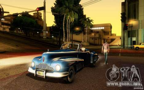 Buick Y-Job 1938 para la vista superior GTA San Andreas