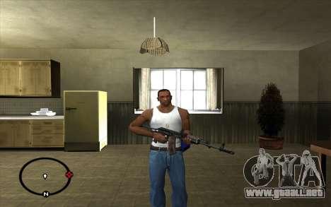 AK-74 para GTA San Andreas segunda pantalla