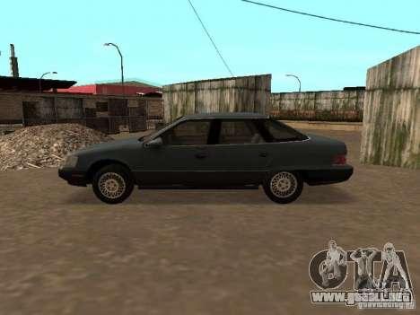 Mercury Sable GS 1989 para GTA San Andreas vista posterior izquierda