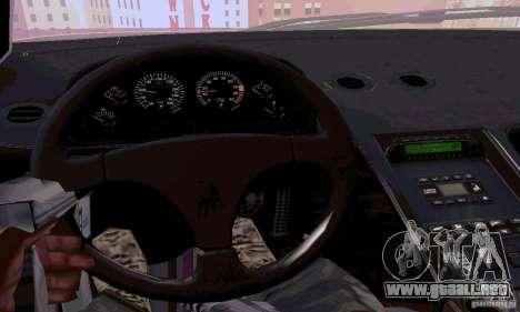 Lamborghini Diablo SV 1997 para visión interna GTA San Andreas