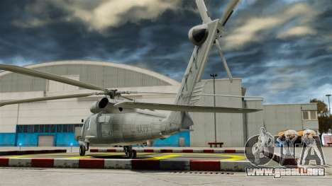 El helicóptero del Sikorsky SH-60 Seahawk para GTA 4 Vista posterior izquierda