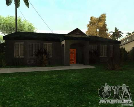 New Ryder House para GTA San Andreas sucesivamente de pantalla