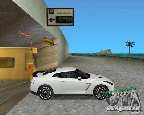 Nissan GT R35 Vspec para GTA Vice City vista lateral izquierdo