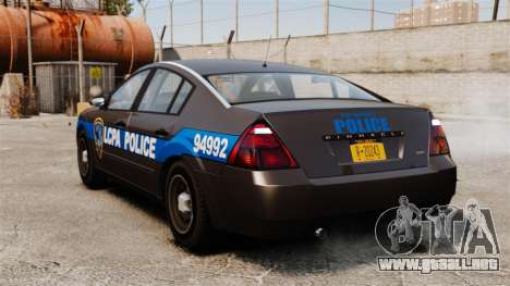 FBI Pinnacle ESPA para GTA 4 Vista posterior izquierda