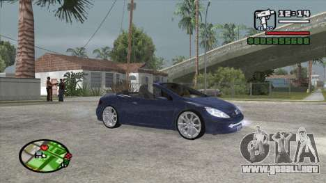 Peugeot 307 BMS Edition para GTA San Andreas left