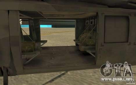 UH-80 para GTA San Andreas vista hacia atrás
