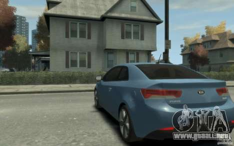 Kia Forte Koup SX para GTA 4 Vista posterior izquierda